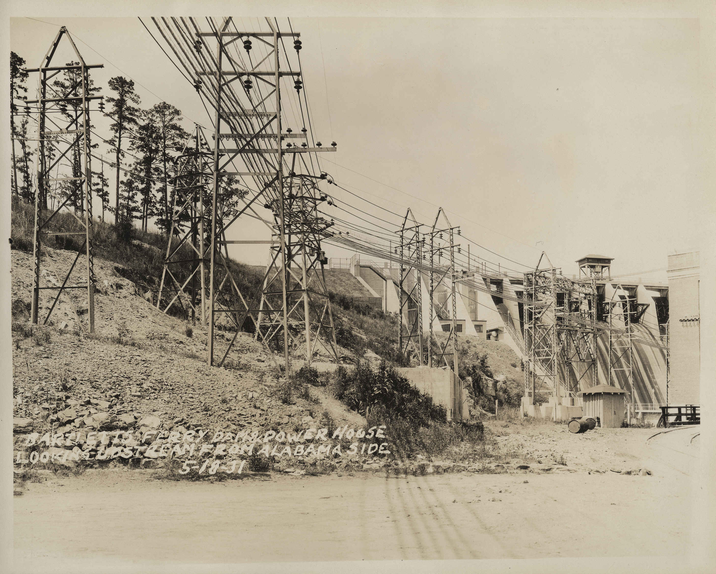 Bartlett's Ferry Dam during the Great Depression